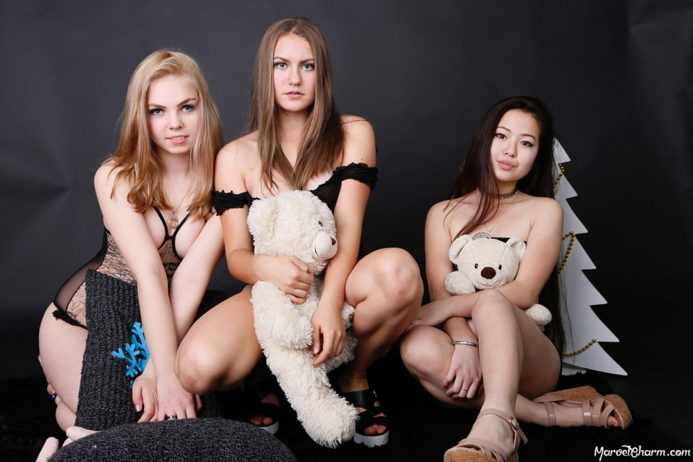 3 Shy teens waiting for you