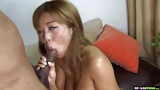 Busty Japanese Teen First Time With BBC